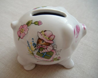 R Moss Porcelain Piggy Bank, Money Box