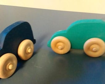 Waldorf inspired wooden toy car