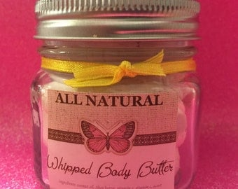 Whipped BODY BUTTER organic lotion