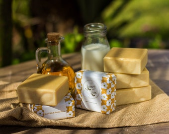 Handmade Olive oil and Goats milk soap - Manuka