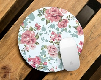 Flower Mouse Pad Desk Accessories Women Mouse Pad Office Desk Mousemat Gifts For Her Computer Desk Decor Non Slip Mouse Pad Pink CMP_188