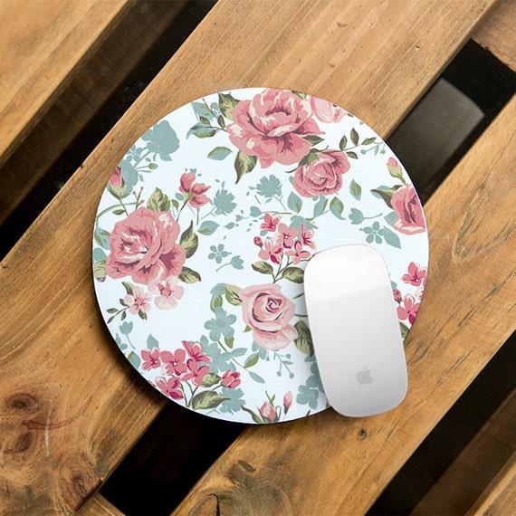Flower Mouse Pad Desk Accessories Women Mouse Pad Office Desk