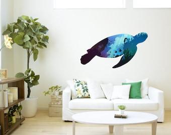 Turtle Wall Art / Sticker Decal