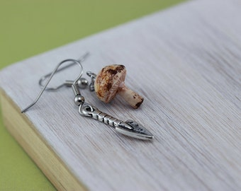 Mushroom Hunting Earrings