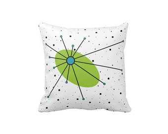 """Star Pillow Lime/Turquoise in either 16""""x16"""" or 20""""x20"""" Polyester or Cotton Your Choice with Free Shipping"""