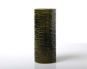 Vintage Royal Norfolk Pottery Apollo 8 green vase, 1960's English pottery, mid century modernist space age retro home decor