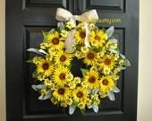 fall wreath summer wreath sunflower outdoor wreaths for front door wreaths decorations outdoor wreaths gift ideas yellow
