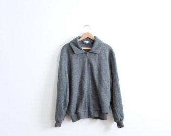 Minimal Grey 90s Fleece Jacket