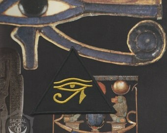Eye of horus embroidered patch occult esoteric egypt symbol udjat utchat ra knowledge
