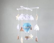 baby mobile-hot air baloon baby mobile-mountain baby mobile-cloud baby mobile