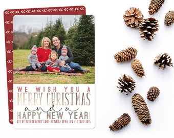 Holiday Photo Card Templates \ printable template, personalized by a designer and emailed to you