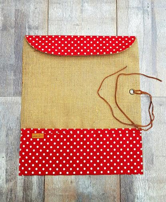 Knitting Needle Case Leather : Knitting needle case roll red cotton polka by