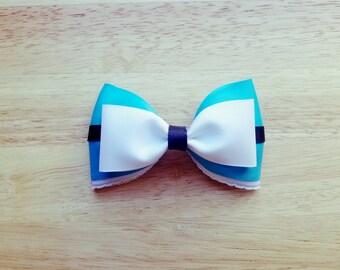 Alice in Wonderland Inspired Hair Bow, Disney, Hair Accessory, Cosplay