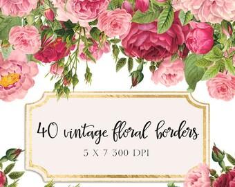 Floral border | Etsy