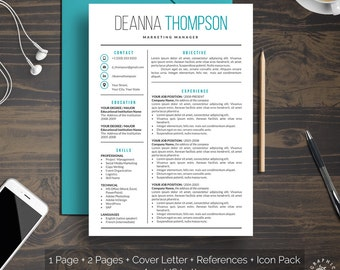 Best It Resume Excel Executive Resume  Etsy Resume For Beginners Word with Resume Multiple Positions Same Company Excel  Word Templates Resume Excel
