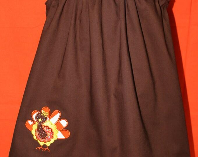 Thanksgiving girl's dress,Baby girl Thanksgiving dress, Toddler Thanksgiving Jumper, Fall Dress, Turkey Dress, Thanksgiving dress