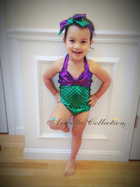 Mermaid Swimsuit One Piece Two PieceRuffle