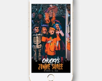 Halloween Party Bash Snapchat Geofilter Trick or Treat  Geo Filter October Orange Pumpkin Scary Monsters Costumes Zombies Ghosts Geofilter