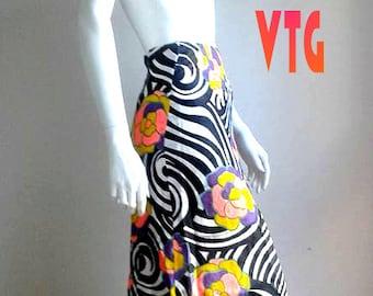 1970s boho skirt/Maxi psychedelic