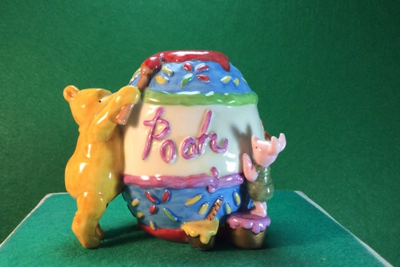 Disney Winnie the Pooh and Piglet Honey Pot / Beehive Candle Holder by Midwest of Cannon Falls