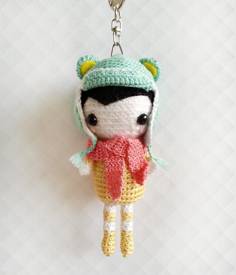 Crochet Amigurumi Doll Cute Keychain Crochet Keychain Doll