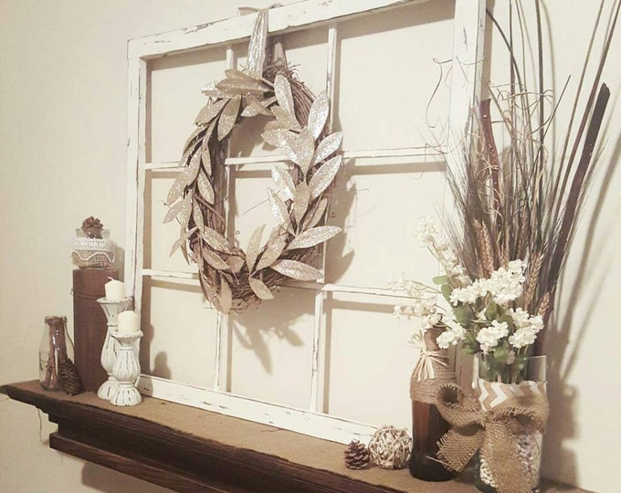 Faux Window Frame - Window Frame - Large Vintage Window Frame - Home Decor