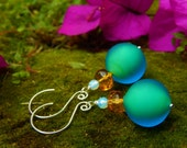 RESERVED for JUDY: Aetherium Neon Glow Earrings & Rainbow Tower Earrings w Gift Certificate