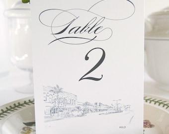 Hilo Skyline Table Numbers (1-10)