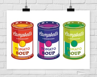 print poster CAMPBELLS SOUP 3 pop art