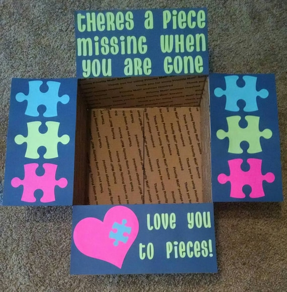 "Different Is Awesome Holiday Package: Items Similar To Care Package Box Kit ""Love You To Pieces"