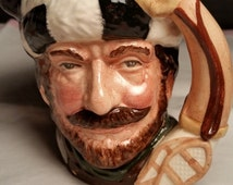 Delayed Shipping The Trapper by Royal Doulton Toby Mug D6612 Vintage Collectible Toby Mug Trapper Man Cave Decor Made in England Royal Doult