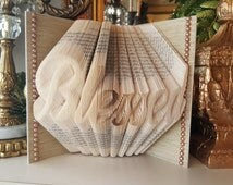 Blessed Folded book art, College Graduation, Gift Idea, Retirement Gift, High School graduation, Wedding gift, Relay for Life, Pastor gift