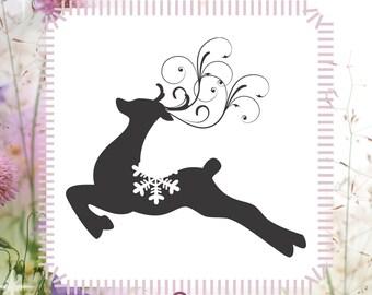 Christmas Reindeer Holiday Reusable Buck Stencil