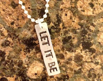Let It Be Charm, PMC Fine Silver