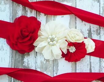 Custom Bridal Sash, Flower Girl Sash, Bridesmaid Sash, Design Your Own Flower Belt, Wedding Sash, Bridal Belt, Junior Bridesmaid