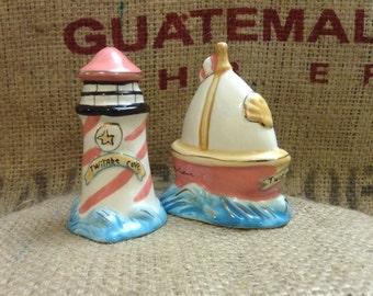 Cute Nautical Salt and Pepper Shakers