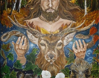 The Horned God Greeting Card