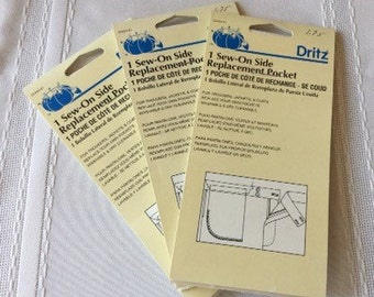 Dritz Sew-On Side Replacement Pocket