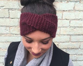 Hand knitted alpaca turban
