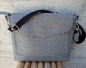 "15 ""laptop Messenger Bag, 15-inch Macbook Pro Laptop Sleeve, tote bag, laptop bag, made in Italy, handmade, men, women,"