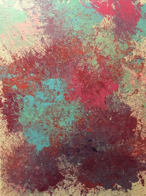 Light and pastel painting with teal and pink colorful for Pastel teal paint
