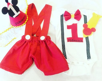 Mickey Mouse birthday outfit for boys