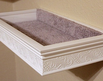 Floating Cat Bed/Shelf Heirloom Moulding Style