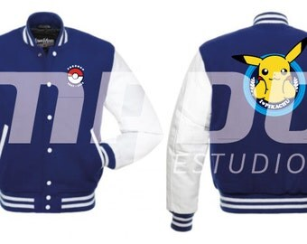 College Jacket Pokemon Pikachu