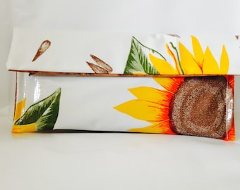 oilcloth clutch purse