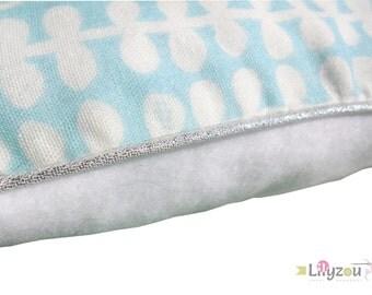 Cushion cover 30 x 30 cm double gauze Japanese white-blue