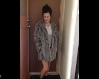 VINTAGE hippy faux fur 70's boho jacket