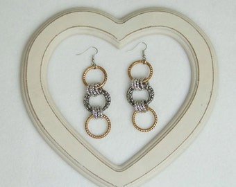 Earrings with chains
