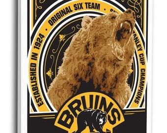 Boston Bruins Sports Propaganda Canvas Print