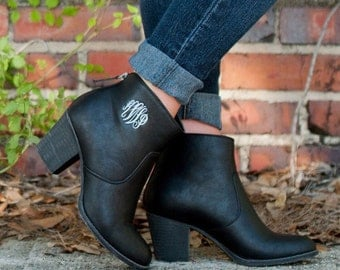 Monogram Ankle Boots